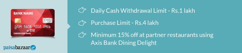 Axis Bank Debit Card Display