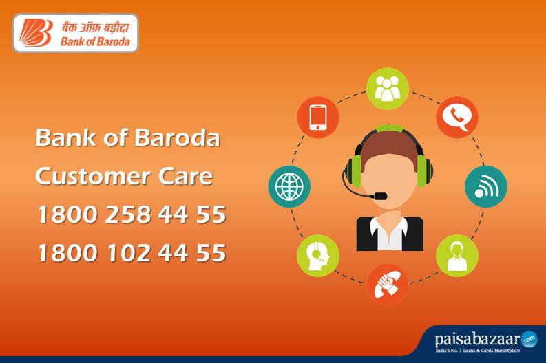 bank of baroda online toll free number