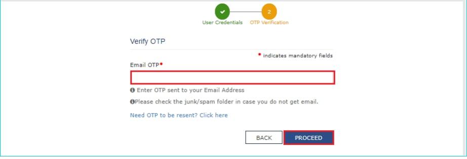 gst login portal verify OTP