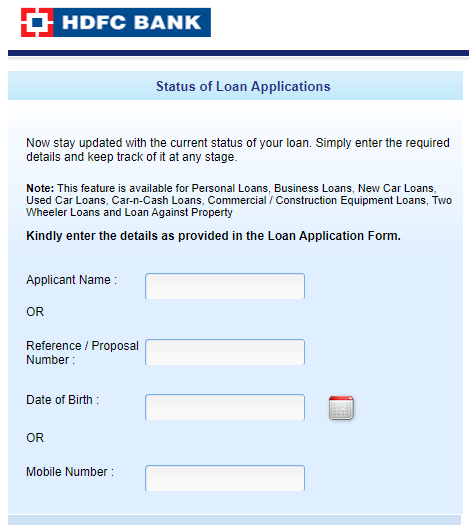 Hdfc Personal Loan Status Track Application Check Active Loan